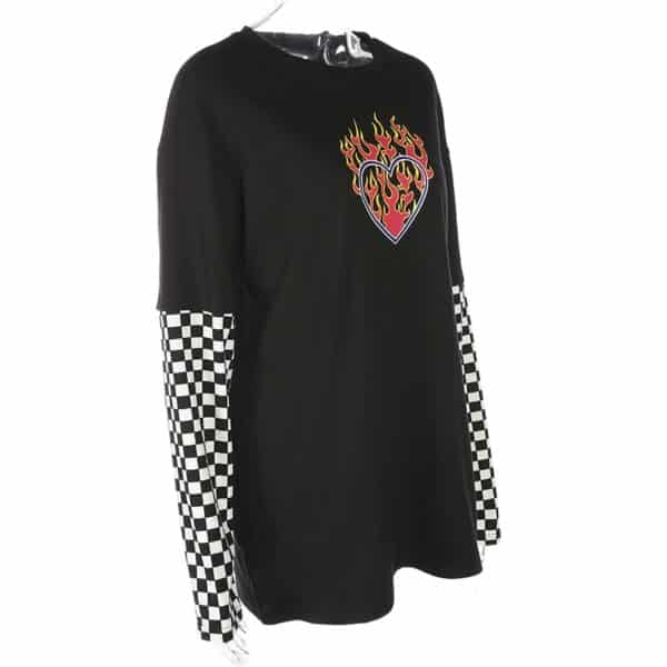 Flaming Heart Checkerboard Top 3