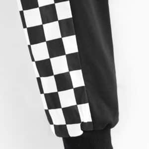 Checkerboard Sleeves Cropped Sweatshirt 2