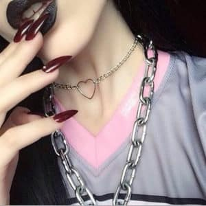 Heart Metal Short Necklace