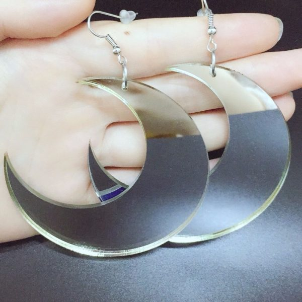 Acrylic Moon Earrings