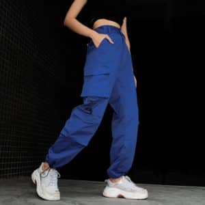 Blue Cargo Pants with Pockets 1