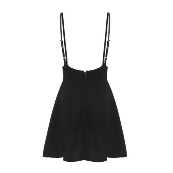 High Waist Mini Skirt with Suspenders 2