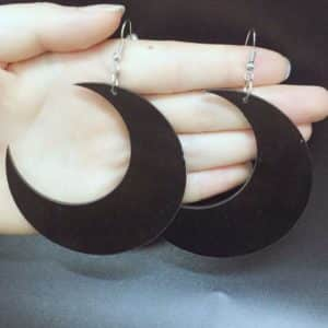 Acrylic Moon Earrings 1