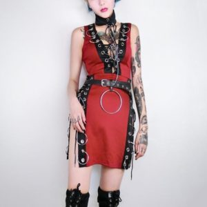 Sleeveless Buckled Mini Dress 2