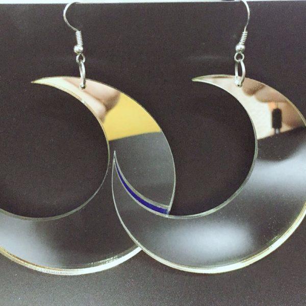 Acrylic Moon Earrings 4