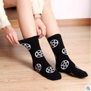 Pentagram & Sad Goth Tube Socks