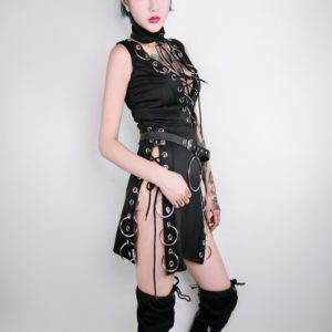 Sleeveless Buckled Mini Dress 1