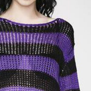 Long Purple Striped Pullover 3