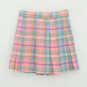 Rainbow Plaid Skirt 2