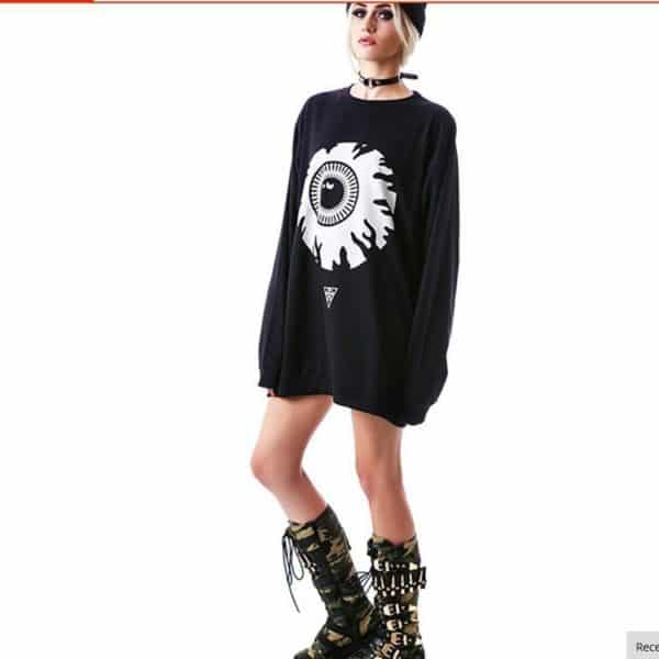 Oversized Eye Sweatshirt 3