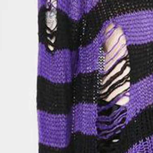 Long Purple Striped Pullover 5