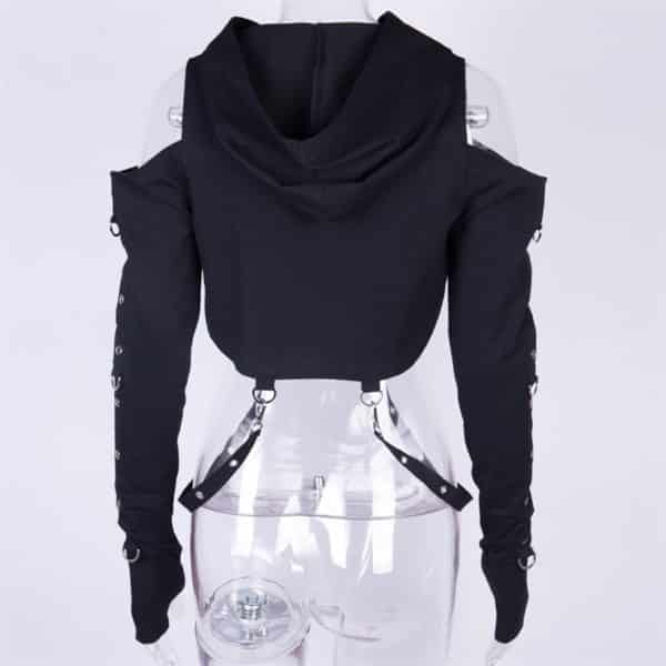 Mesh Crop Top with Chain 2