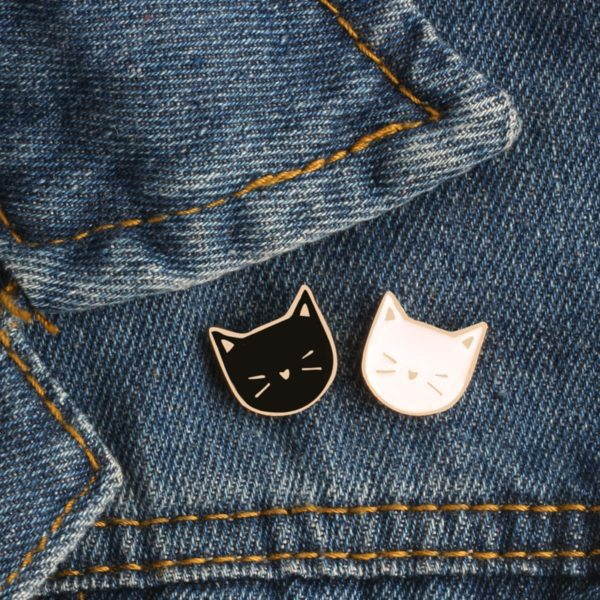 Black & White Cats Pins