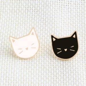 Black & White Cats Pins 1