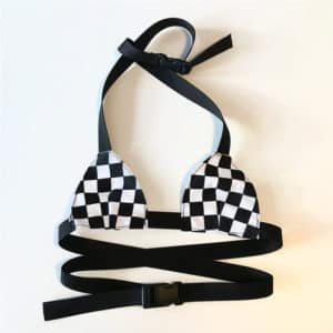 Adjustable Checkerboard Crop Top 1