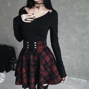 Ribbon Lacing Mini Skirt 1