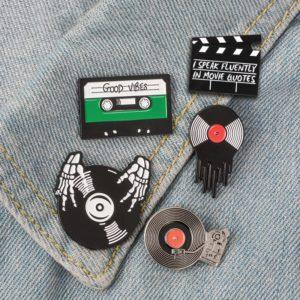 Punk Music Lovers Enamel Pins