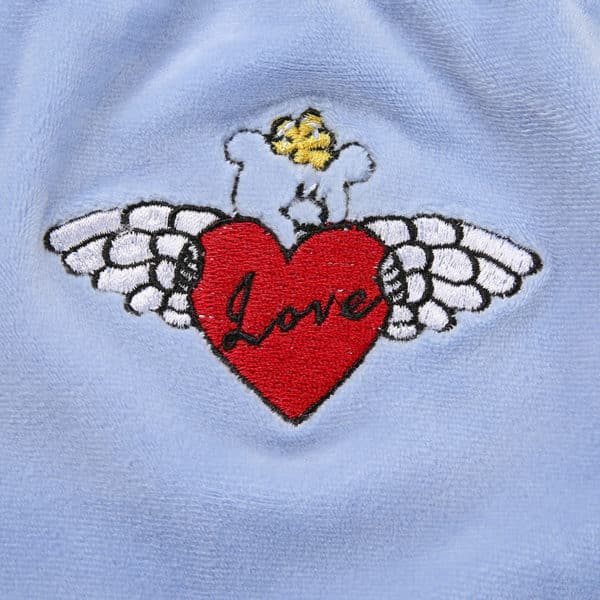 Sleeveless Embroidered Heart Crop Top details close up