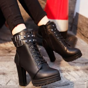 High Heels Zipper Ankle Boots 3