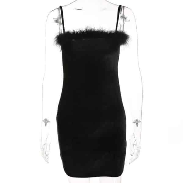 Velvet Spaghetti Strap Mini Dress 3