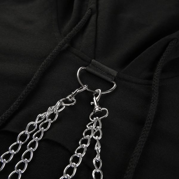 Loose Chain Patchwork Hoodie 5