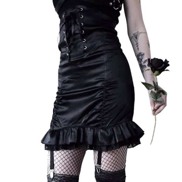 Bodycon Ruffle Skirt