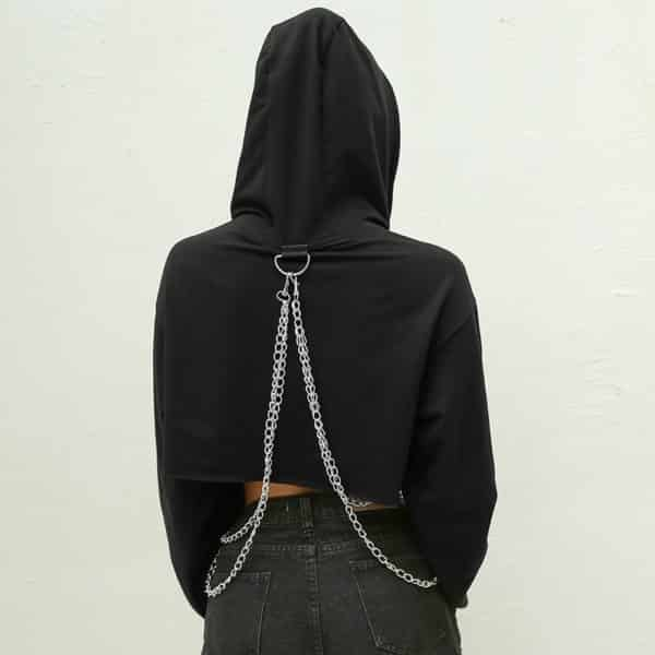 Loose Chain Patchwork Hoodie 4