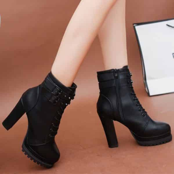 High Heels Zipper Ankle Boots 2