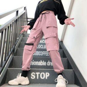 Big Pockets Pink Cargo Pants 1