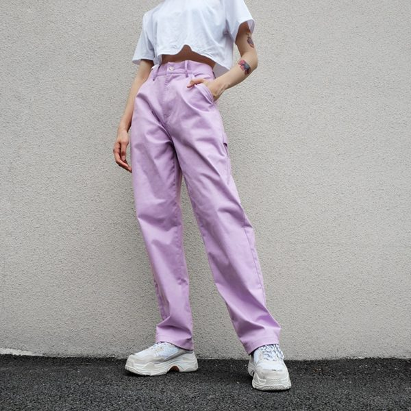 High Waist Pastel Trousers