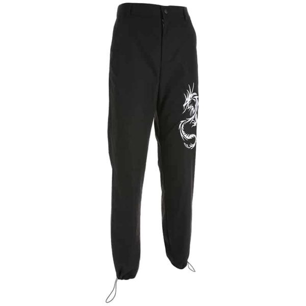 Chinese Style Dragon Cargo Pants 4