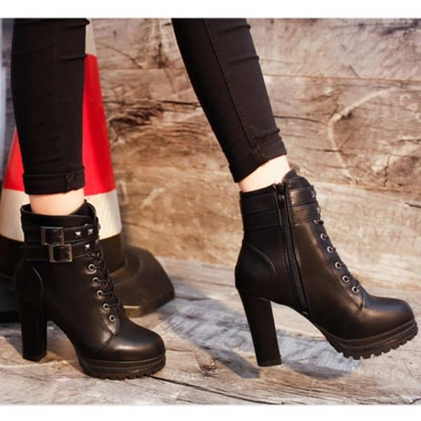 High Heels Zipper Ankle Boots 4