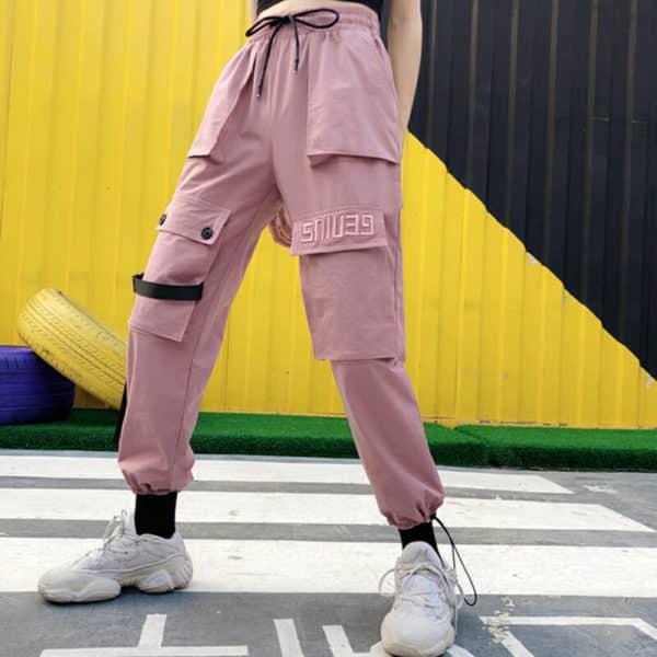 Big Pockets Pink Cargo Pants 2