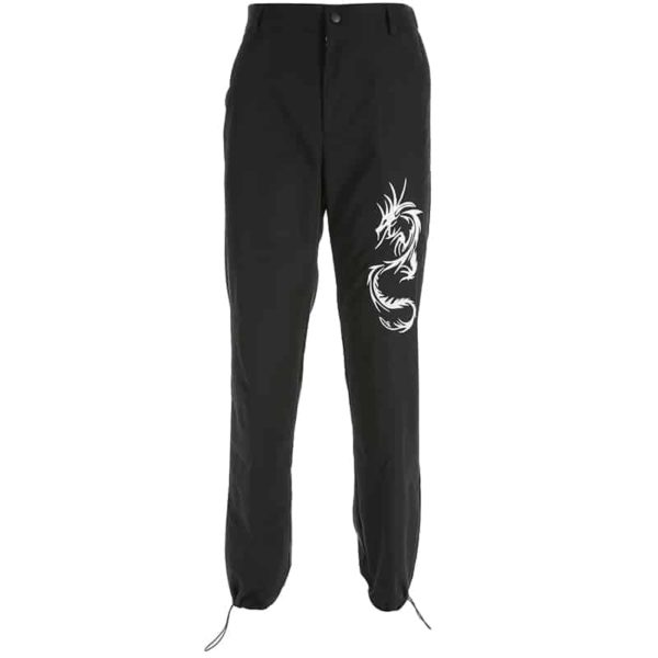 Chinese Style Dragon Cargo Pants 3