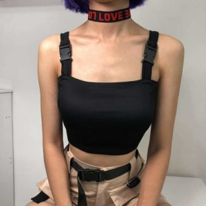 Adjustable Buckle Tank Top