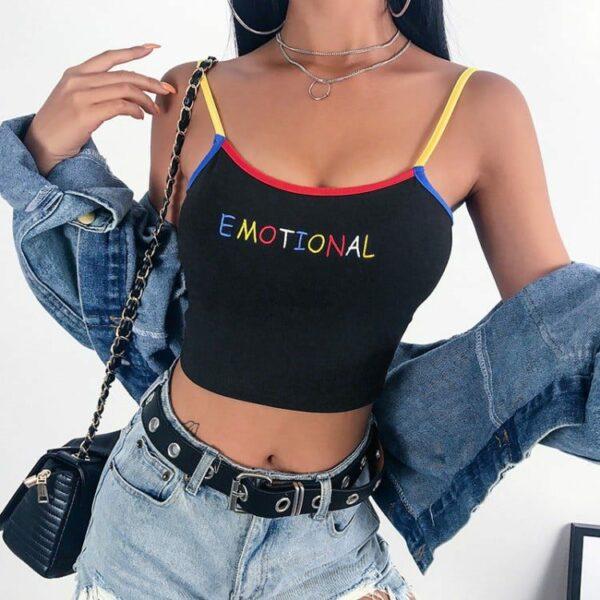 """Emotional"" Crop Top"