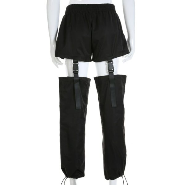 High Waist Trousers With Plastic Buckles 3
