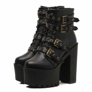 Rivet Black Ankle Boots
