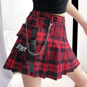 """Slayer"" High Waist Mini Skirt"