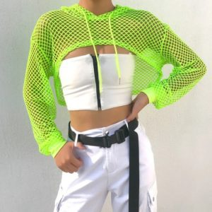 Fishnet Cropped Top
