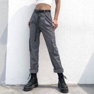 Gray Trousers with Pockets