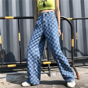 Blue Plaid Trousers