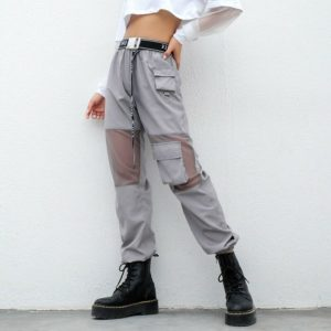 Gray Pants with Mesh Knees