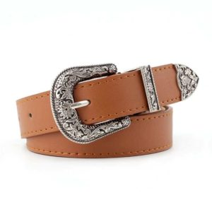 Vegan Leather Cowgirl Belt Camel