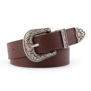 Vegan Leather Cowgirl Belt Coffee