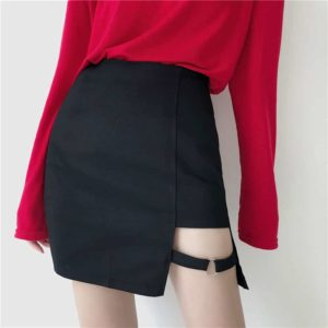 Irregular Mini Skirt