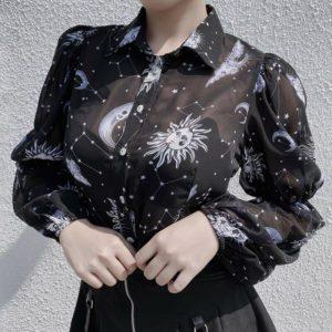 Moon & Stars Chiffon Shirt
