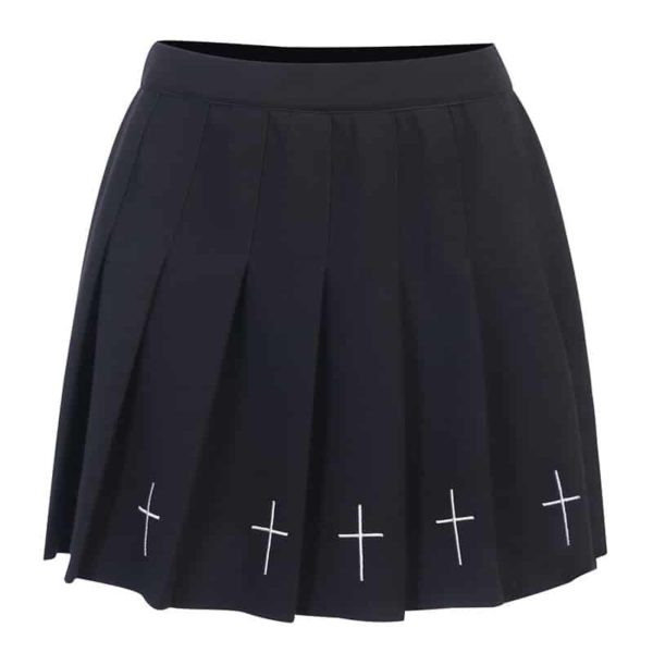 Cross Pleated Skirt
