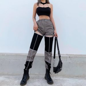 Black & Gray Harem Pants