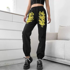 Gold Dragons Black Sweatpants